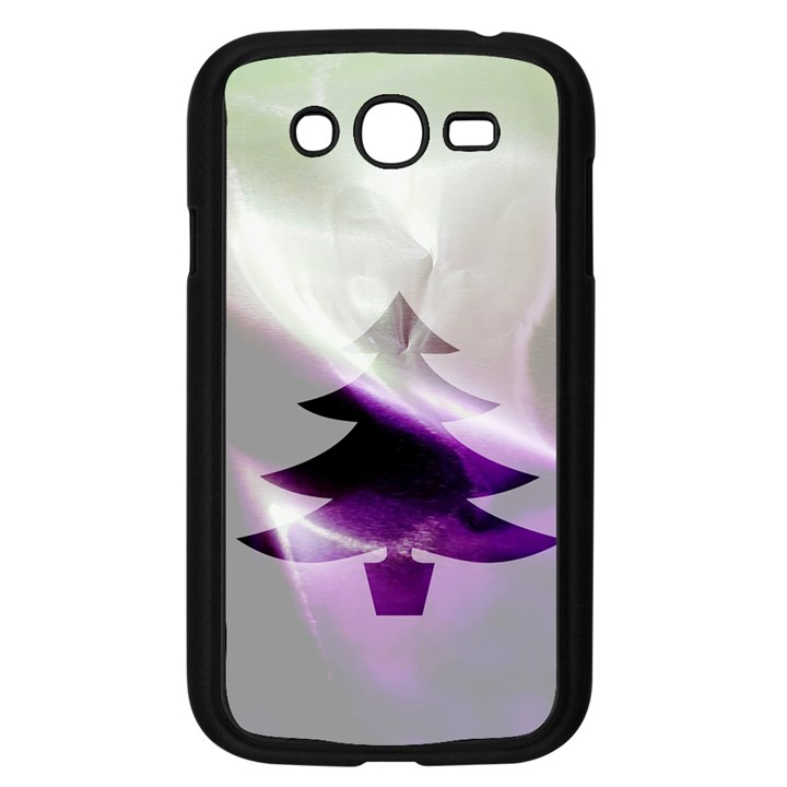 Purple Christmas Tree Samsung Galaxy Grand DUOS I9082 Case (Black)