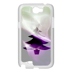 Purple Christmas Tree Samsung Galaxy Note 2 Case (White)