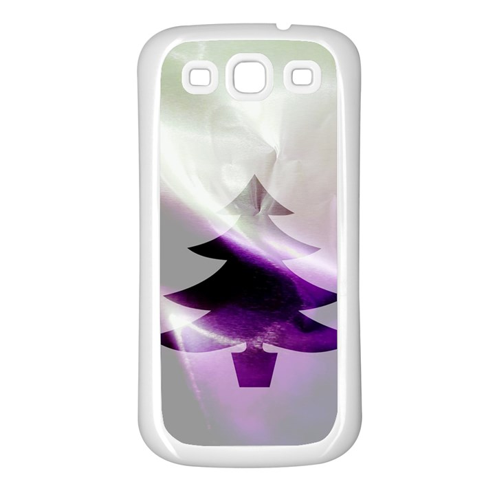 Purple Christmas Tree Samsung Galaxy S3 Back Case (White)