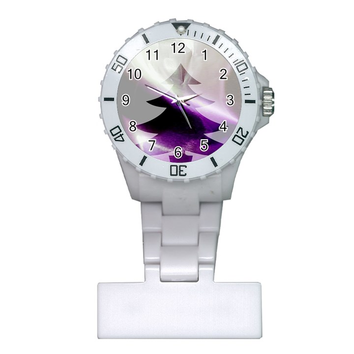 Purple Christmas Tree Plastic Nurses Watch