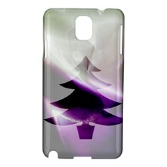 Purple Christmas Tree Samsung Galaxy Note 3 N9005 Hardshell Case