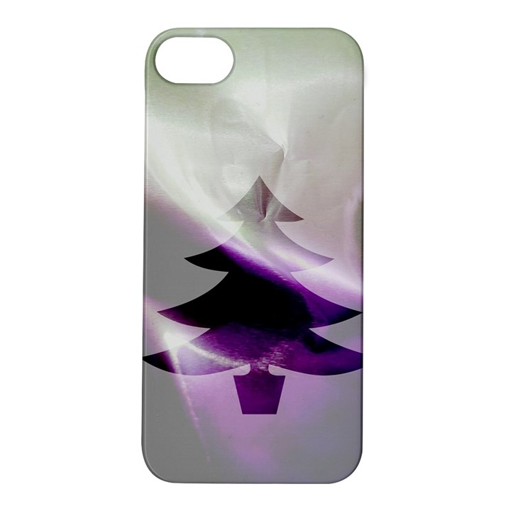 Purple Christmas Tree Apple iPhone 5S/ SE Hardshell Case