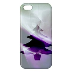 Purple Christmas Tree iPhone 5S/ SE Premium Hardshell Case