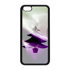 Purple Christmas Tree Apple iPhone 5C Seamless Case (Black)