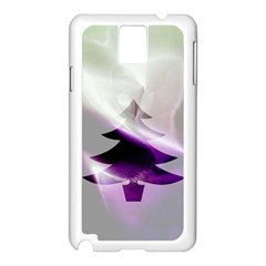 Purple Christmas Tree Samsung Galaxy Note 3 N9005 Case (White)