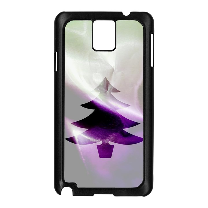 Purple Christmas Tree Samsung Galaxy Note 3 N9005 Case (Black)
