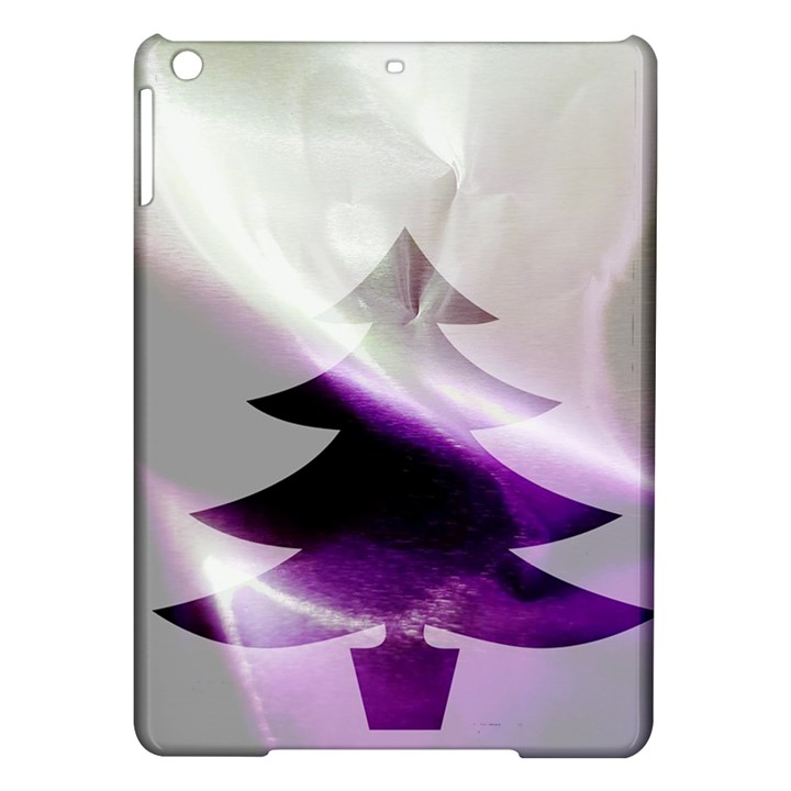 Purple Christmas Tree iPad Air Hardshell Cases