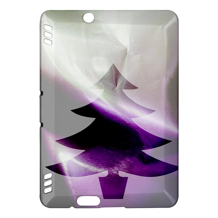 Purple Christmas Tree Kindle Fire HDX Hardshell Case