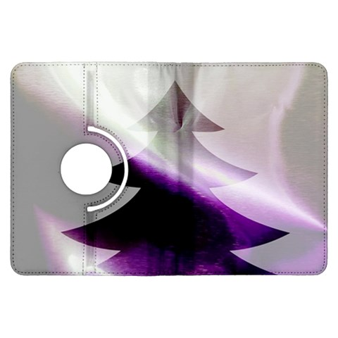 Purple Christmas Tree Kindle Fire HDX Flip 360 Case