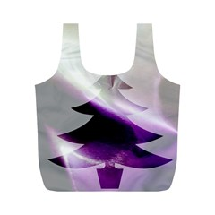 Purple Christmas Tree Full Print Recycle Bags (M)