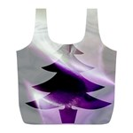 Purple Christmas Tree Full Print Recycle Bags (L)  Back