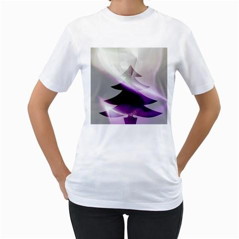 Purple Christmas Tree Women s T-Shirt (White)