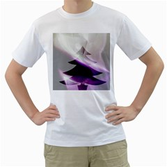 Purple Christmas Tree Men s T-Shirt (White)