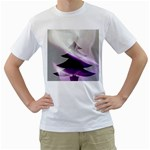Purple Christmas Tree Men s T-Shirt (White)  Front