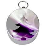 Purple Christmas Tree Silver Compasses Front