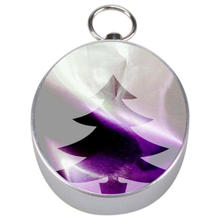 Purple Christmas Tree Silver Compasses