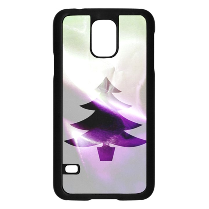 Purple Christmas Tree Samsung Galaxy S5 Case (Black)