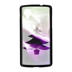 Purple Christmas Tree Nexus 5 Case (Black)