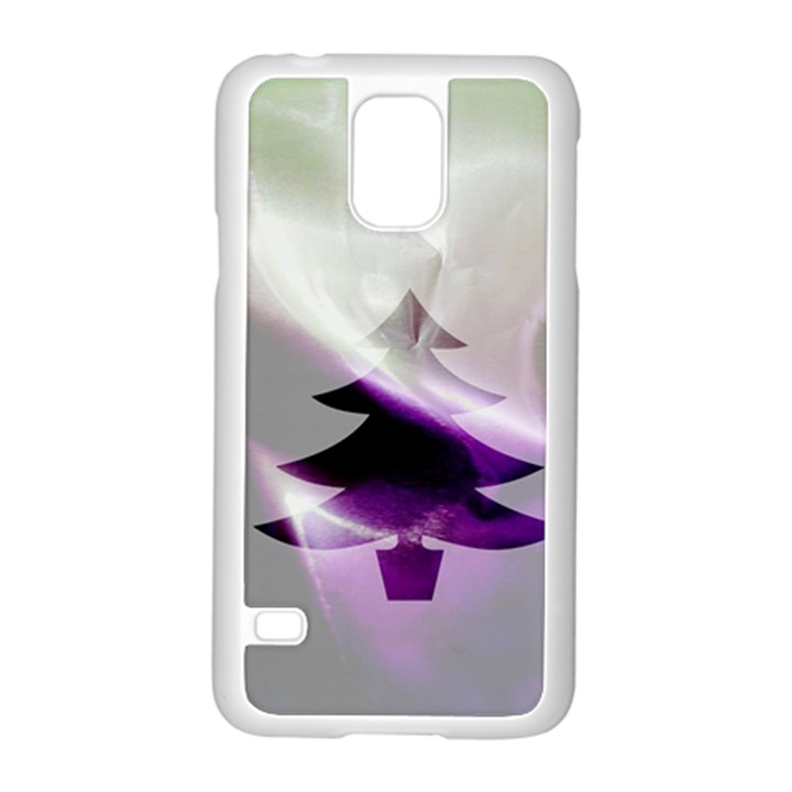 Purple Christmas Tree Samsung Galaxy S5 Case (White)