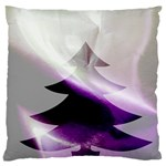 Purple Christmas Tree Standard Flano Cushion Case (One Side) Front