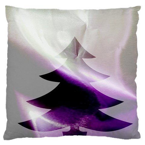 Purple Christmas Tree Large Flano Cushion Case (One Side)
