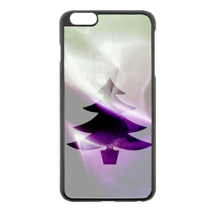 Purple Christmas Tree Apple iPhone 6 Plus/6S Plus Black Enamel Case