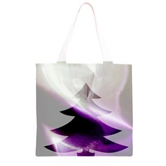 Purple Christmas Tree Grocery Light Tote Bag