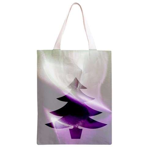 Purple Christmas Tree Classic Light Tote Bag
