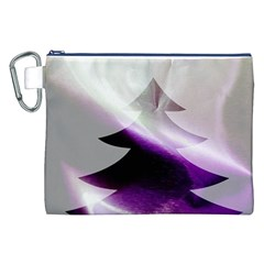 Purple Christmas Tree Canvas Cosmetic Bag (XXL)