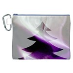 Purple Christmas Tree Canvas Cosmetic Bag (XXL) Front
