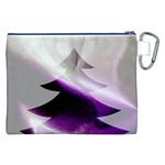 Purple Christmas Tree Canvas Cosmetic Bag (XXL) Back