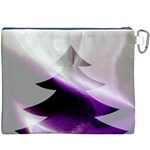 Purple Christmas Tree Canvas Cosmetic Bag (XXXL) Back