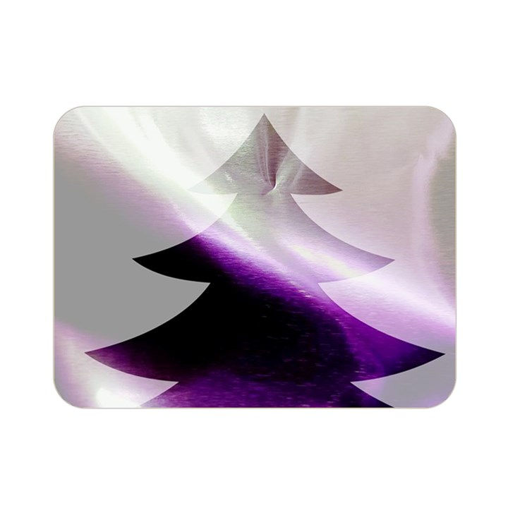 Purple Christmas Tree Double Sided Flano Blanket (Mini)