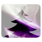 Purple Christmas Tree Double Sided Flano Blanket (Small)  50 x40 Blanket Back