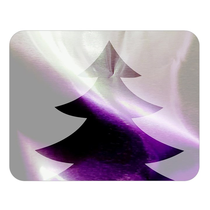Purple Christmas Tree Double Sided Flano Blanket (Large)