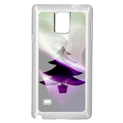 Purple Christmas Tree Samsung Galaxy Note 4 Case (white)
