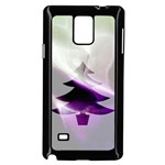 Purple Christmas Tree Samsung Galaxy Note 4 Case (Black) Front