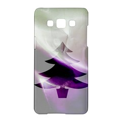 Purple Christmas Tree Samsung Galaxy A5 Hardshell Case