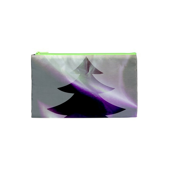 Purple Christmas Tree Cosmetic Bag (XS)