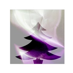 Purple Christmas Tree Small Satin Scarf (Square)