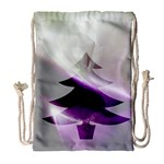 Purple Christmas Tree Drawstring Bag (Large) Front