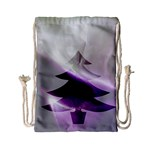 Purple Christmas Tree Drawstring Bag (Small) Back