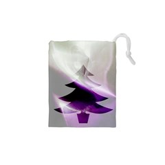 Purple Christmas Tree Drawstring Pouches (xs)