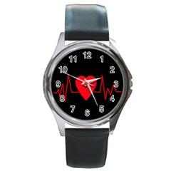 Hart bit Round Metal Watch
