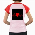 Hart bit Women s Cap Sleeve T-Shirt Back