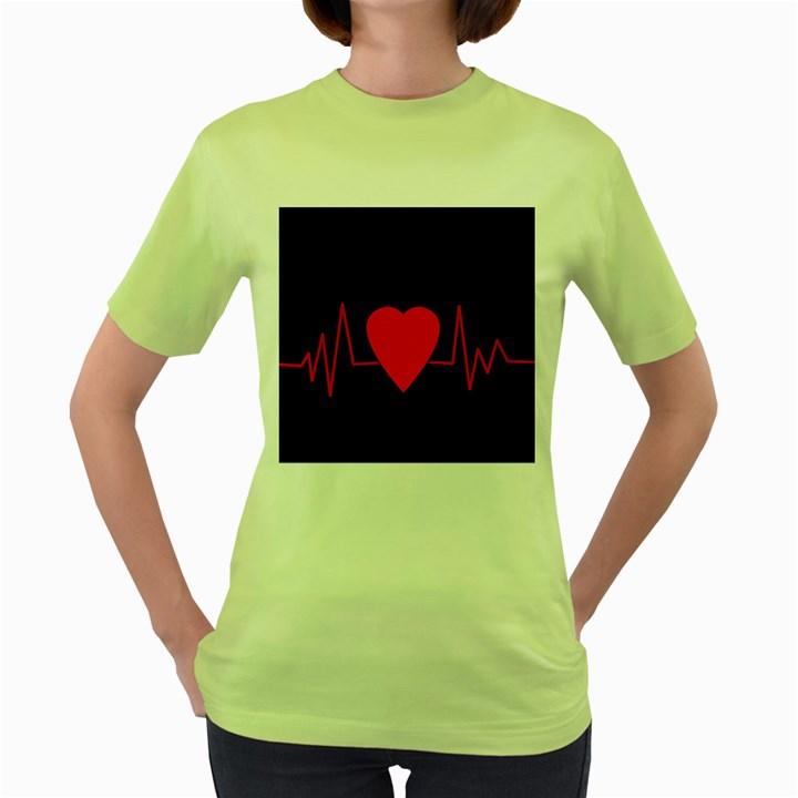 Hart bit Women s Green T-Shirt
