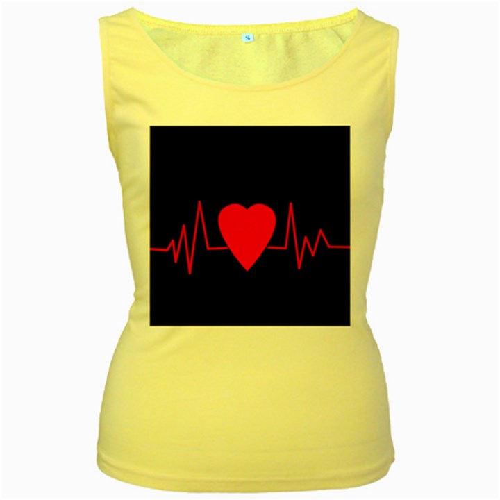 Hart bit Women s Yellow Tank Top