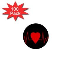 Hart Bit 1  Mini Buttons (100 Pack)