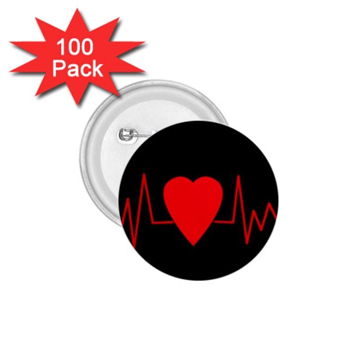 Hart bit 1.75  Buttons (100 pack)