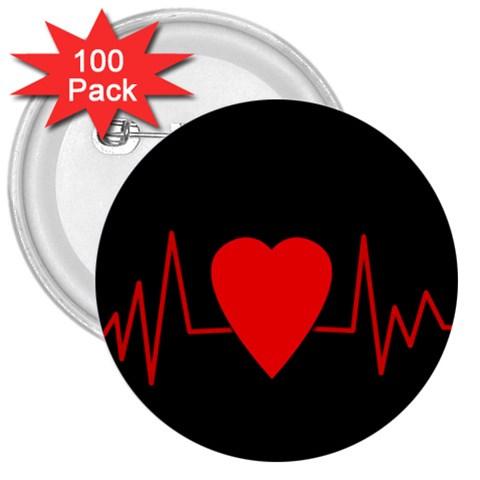 Hart bit 3  Buttons (100 pack)
